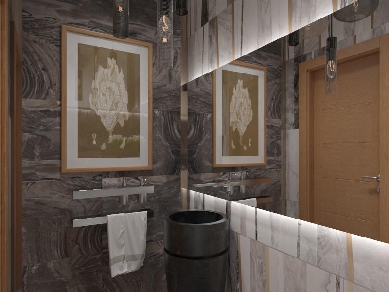 Salle de bains dans une maison particulière, Lettonie