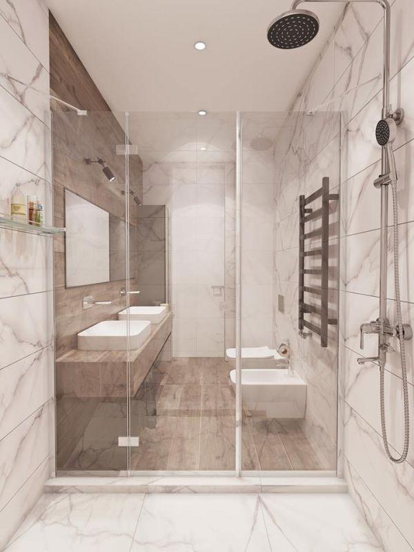 Bathroom in private house, Ukraine